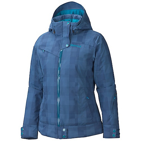 Free Shipping. Marmot Women's Sion Jacket DECENT FEATURES of the Marmot Women's Sion Jacket Marmot MemBrain Waterproof/Breathable Fabric 100% seam taped 2-layer construction Unique Woven Pattern Fabric Zip-off Storm Hood with Laminated Brim Thermal R Insulation PitZips Water-Resistant CF Zipper Chest Pocket with Water Resistant Zip Sleeve Pocket with Water- Resistant Zipper Zippered Handwarmer Pockets Powder Skirt Zippered Sunglass Pocket Internal Media pocket Goggle pocket Elastic Draw Cord Hem HD Brushed Tricot Collar and Shoulder Lining Adjustable Velcro Cuffs Angel- Wing Movement The SPECS Weight: 1 lb 7 oz / 652 g Material: MemBrain10 2L 100% Nylon Dobby 4.7oz/ydFit Regular - $274.95
