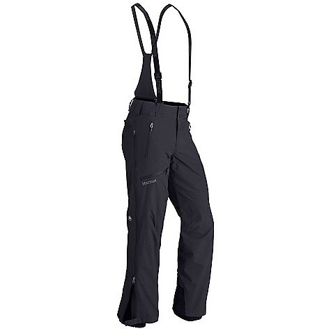 Free Shipping. Marmot Men's Conness Pant DECENT FEATURES of the Marmot Men's Conness Pant Marmot MemBrain Waterproof/Breathable Fabric 100% seam taped 2-layer construction Water Resistant Side Zippers Zip-Off Bib with Adjustable Suspenders Hand Pockets with Water Resistant Zipper Cargo Pocket with Water Resistant Zipper Back Pocket with Water Resistant Zipper Adjustable Waist with Snap Closure and Zip Fly Articulated Knees Internal Gaiters with Gripper Elastic Cordura Scuff Guard The SPECS Weight: 1 lb 6 oz / 623.7 g Material: MemBrain10 2L 100% Nylon 4.7 oz/yd Fit: Regular - $200.00