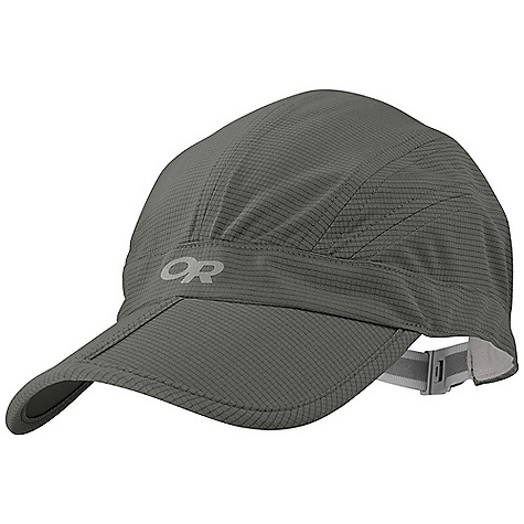 Outdoor Research Echo Cap DECENT FEATURES of the Outdoor Research Echo Cap Breathable Lightweight Wicking Polygiene Active Odor Control Folding Brim for Easy Storage Wicking TransAction Headband Quick-Release Buckle Closure Reflective Logos The SPECS Weight: 1.8 oz / 52 g AirVent 100% polyester knit 100% nylon under brim This product can only be shipped within the United States. Please don't hate us. - $25.95