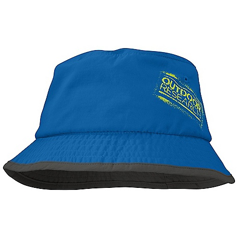Outdoor Research Boys' Solstice Bucket Hat DECENT FEATURES of the Outdoor Research Boys' Solstice Bucket Hat Breathable Lightweight Wicking Protective SolarShield Construction UPF 30 Wicking TransAction Headband Sewn Eyelets for Ventilation Loops for Chin Cord Graphic Treatment The SPECS Weight: M: 1.2 oz / 33 g 100% Supplex nylon This product can only be shipped within the United States. Please don't hate us. - $25.00