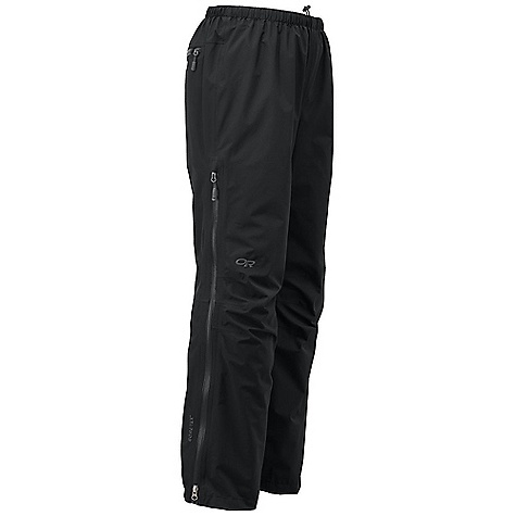 Free Shipping. Outdoor Research Women's Aspire Pant DECENT FEATURES of the Outdoor Research Women's Aspire Pant Waterproof Breathable Lightweight Fully Seam Taped Water-Resistant Zippers Elastic Waist with Drawcord Rear Pocket Doubles as Stuff Sack 3/4 Length Side Zippers Gusseted Crotch Gusseted Crotch Articulated Knees Cuff Closures Internal Loops for Instep Lace The SPECS Inseam: 30in. / 76 cm Weight: M: 8.8 oz / 250 g Fit: Standard Gore-Tex 2L, 100% polyester 50D Paclite Technology This product can only be shipped within the United States. Please don't hate us. - $159.95