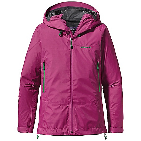 Free Shipping. Patagonia Women's Super Cell Jacket DECENT FEATURES of the Patagonia Women's Super Cell Jacket 2-layer nylon Gore-Tex fabric with Paclite Product Technology repels moisture and packs down to nothing Optimal Visibility Hood: Helmet-compatible, 2-way adjustable hood with laminated visor provides good visibility in poor conditions Touch Point System with embedded cord locks in hood and hem for quick-and-easy adjustment Microfleece-lined neck and wind flap for next-to-skin comfort Full Reach Gusseted Panels at the underarm let you reach without raising the body of the jacket Watertight, coated pit zips offer ventilation Harness- and pack-compatible pockets feature supple, watertight, coated Slim Zips that reduce bulk and weight Low-profile gusset cuffs create a tight wrist seal The SPECS Regular fit Weight: 12.8 oz / 362 g 2.7-oz 40-denier 100% nylon Gore-Tex fabric with Paclite Fabric Technology and a DWR (durable water repellent) finish This product can only be shipped within the United States. Please don't hate us. - $269.00