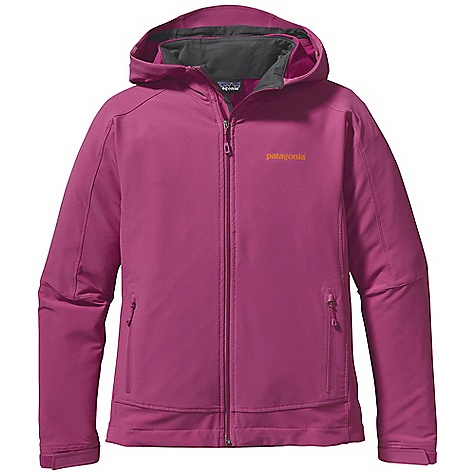 Free Shipping. Patagonia Women's Simple Guide Hoody DECENT FEATURES of the Patagonia Women's Simple Guide Hoody Lightweight, breathable, wind- and abrasion-resistant stretch-woven soft-shell fabric treated with a Deluge DWR finish wicks moisture and dries quickly Two-way adjustable, helmet-compatible hood has a laminated visor for good visibility in poor conditions Micro fleece-lined neck and wind flap for next-to-skin comfort Pockets: two zippered hand warmers with garages and a DWR finish Hook-and-loop cuff closures for a secure fit Draw cord hem The SPECS Regular fit Weight: 16.4 oz / 465 g 6.2 oz 91% all-recycled polyester 9% spandex double weave, with a Deluge DWR (durable water repellent) finish This product can only be shipped within the United States. Please don't hate us. - $149.00