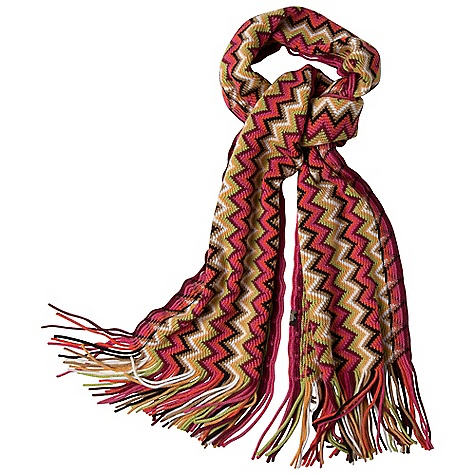 Prana Boni Scarf DECENT FEATURES of the Prana Boni Scarf Bright and colorful Zig zag design Soft and warm Tassel edges The SPECS Wide: 7in., Long: 3in. Fabric: 100 Acrylic - $41.95