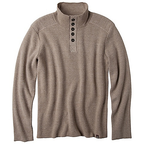 Free Shipping. Prana Men's Redford Sweater DECENT FEATURES of the Prana Men's Redford Sweater Brushed polyester inside yoke detail Custom engraved 'Born from the Experience' metal buttons Back yoke embroidery Standard Fit The SPECS Fabric: 70 Acrylic / 20 Alpaca / 10 Wool Weight: 14 oz - $148.95