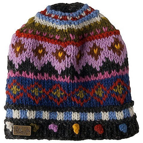 Entertainment Prana Priscilla Beanie DECENT FEATURES of the Prana Priscilla Beanie Intricate Fair Isle design Decorative pom pom detail Fully fleece lined Prana metal logo tab Skully Fit The SPECS Fabric: 100 Wool - $38.95
