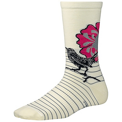 Smartwool Women's Flowering Lark Sock DECENT FEATURES of the Smartwool Women's Flowering Lark Sock WOW technology Supportive arch brace The SPECS Height: Crew 62% Merino Wool, 36% Nylon, 2% Elastane - $19.95