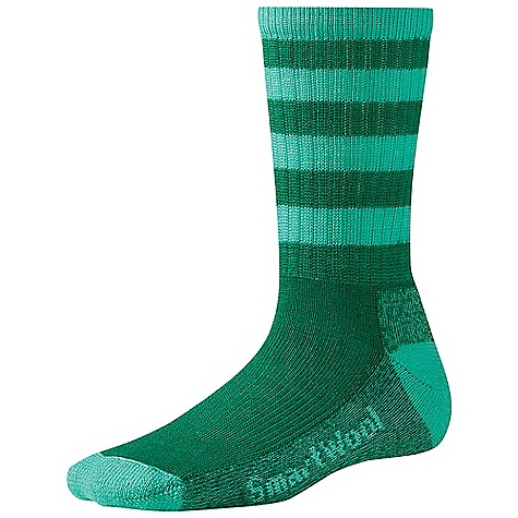 Camp and Hike Smartwool Women's Striped Hike Light Crew Sock DECENT FEATURES of the Smartwool Women's Striped Hike Light Crew Sock WOW technology in reinforced sole for maximum comfort and durability 3 x 1 ribbed leg Sizing clearly indicated on the sock Flat knit toe seam Elasticized arch brace The SPECS Height: Crew 72% Merino Wool, 27% Nylon, 1% Elastane - $19.95