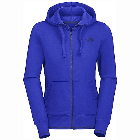 On Sale. Free Shipping. The North Face Women's Logo Stretch Full Zip Hoodie DECENT FEATURES of The North Face Women's Logo Stretch Full Zip Hoodie Soft, comfortable, easy-care fabric Double-layered hood with drawcord Embroidered logo at left chest Kangaroo hand pockets Contrast color cover stitching at hem and cuffs 1x1 rib at cuffs and hem The SPECS Average Weight: 18 oz / 500 g Center Back Length: 25.5in. 280 g/m2 68% cotton, 28% polyester, 4% elastane stretch fleece This product can only be shipped within the United States. Please don't hate us. - $40.99
