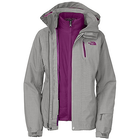 On Sale. Free Shipping. The North Face Women's Cheakamus Triclimate Jacket DECENT FEATURES of The North Face Women's Cheakamus Triclimate Jacket Waterproof, breathable, fully seam sealed Adjustable zip-off hood Core vents Handwarmer zip pockets Wrist accessory pocket with goggle cloth Internal goggle pocket Powder skirt Adjustable hem system Adjustable cuff tabs (Tricimate) Zip-in compatible Handwarmer zip pockets The SPECS Average Weight: 41.2 oz / 1168 g Center Back Length: Shell: 27in., liner: 25in. Shell: 170D 160 g/m2 HyVent 2L polyester plain weave with crosshatch Lining: Slick mesh body with embossed taffeta Liner: 40D 59 g/m2 nylon ripstop Lining: Floral-embossed taffeta Insulation: 100 g Heatseeker This product can only be shipped within the United States. Please don't hate us. - $223.99