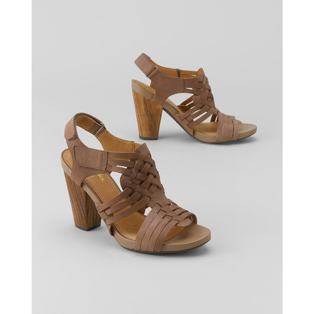 Entertainment Clarks Rosa Central Sandals - These Clarks platform-heel sandals offer on-trend style, combined with exceptional comfort, and they look as good with jeans as they do with warm-weather dresses. - $59.99