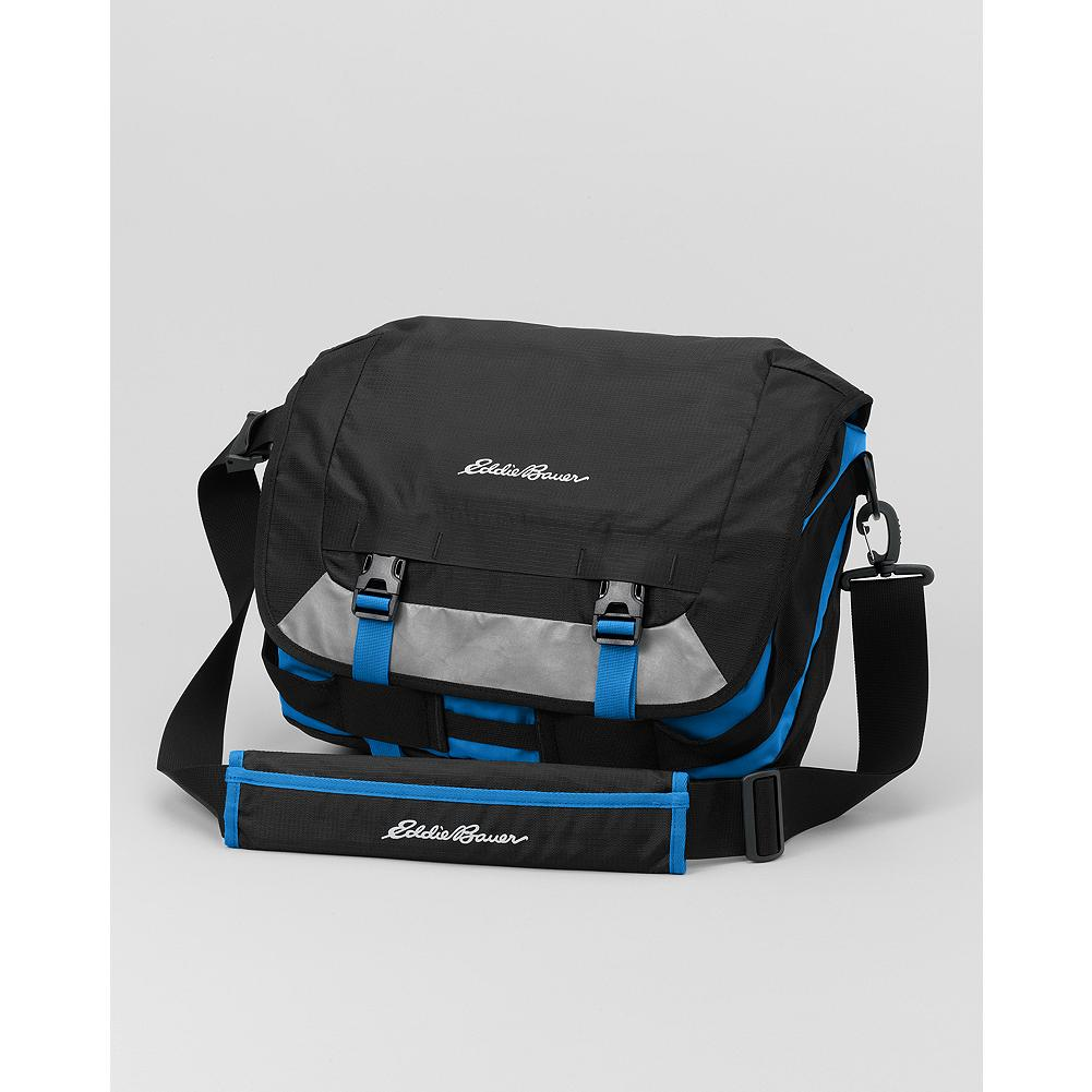 "Eddie Bauer Summit Messenger Bag - This rugged messenger bag holds up to a 13"" laptop and is durable enough to withstand the rigors of any commute. - $59.99"