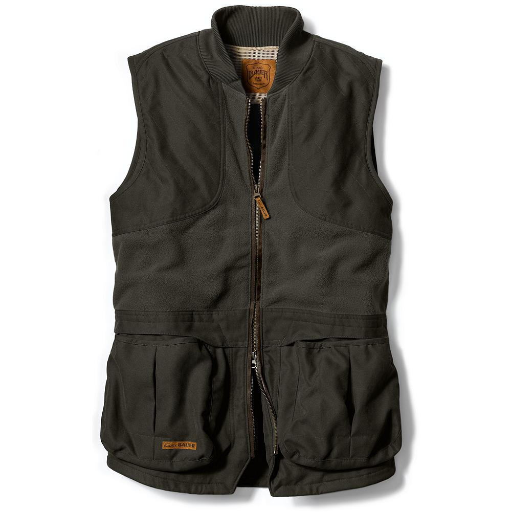 Entertainment Eddie Bauer True Pair Shooting Vest - A truly functional shooting vest, perfect for chilly Northern mornings or cooler days at the range. Overlay front bellows pockets hold a box of shells each, with handwarmer pockets in rear. - $89.25