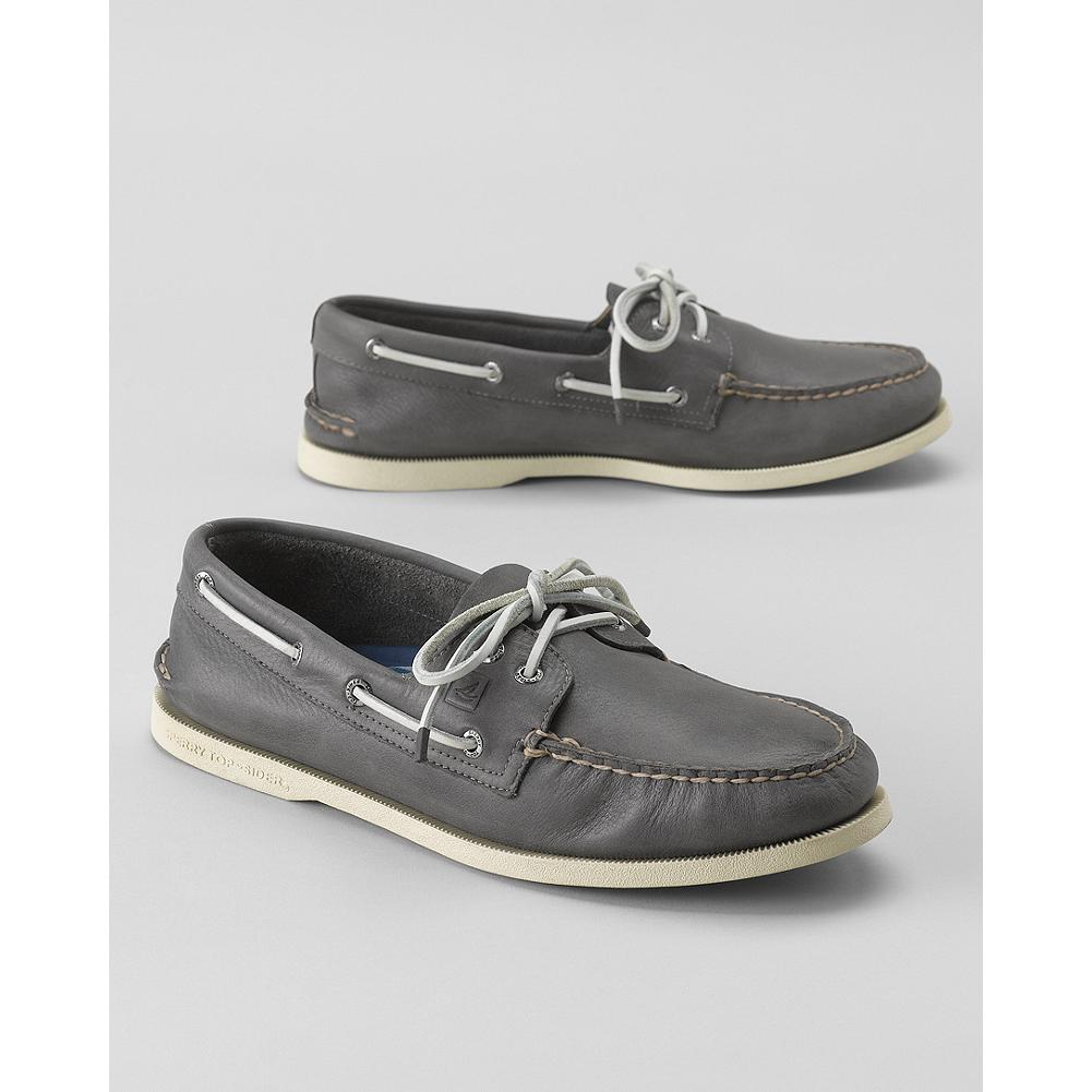 Entertainment Sperry A/O Top-Sider Burnished Leather Boat Shoes - Paul Sperry invented the boat shoe in 1935, and Sperry's Authentic Originals collection maintains the shoes' classic comfort and style, with a few modern updates. These boat shoes feature genuine handsewn Tru-Moc construction for a custom fit and burnished leather uppers for a relaxed, worn-in look you can take from the boat deck to the sundeck, and everywhere in between. - $69.99