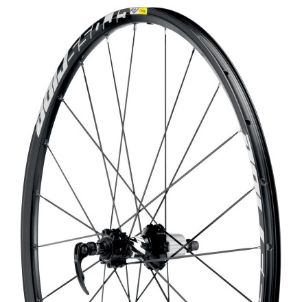 MTB No matter how much money you're willing to drop on Mavic 29er wheels, you can sleep at night knowing that you invested in the highest quality that your money could buy. The Mavic Crossride Disc 29in Wheelset is no exception to this rule. Refusing to make a throwaway 'entry-level' 29er wheelset, the Crossride Wheelset reflects Mavic's devotion to progression and precision in everything they make. Using a lightweight, responsive rim designed to remain strong and true after rocky beatings, the Crossride will satisfy both the 29er loyalist and the newly converted. Mavic's Crossride Disc 29in Wheelset was developed with rider experience at the forefront of the design. In fact, the pros from teams Orbea, Cannondale, and Luna were integral in the research and development process. With their input, and a dash of French engineering prowess, Mavic was able to make the Crossride a rigid, but comfortable, entry-level wheelset that wants to accelerate and sprint out of the corners. The first step in the new design was incorporating Mavic's Self Lock system. This system uses a specially shaped spoke end that makes it virtually impossible for the spoke's thread to loosen from the nipple. This means that the Crossride's 24/24 straight-pull rims retain a constant, out-of-the-box shape with a tension and true that refuses to deviate. To combine durability and rigidity, Mavic next used the H2, hammer hardened, rims that are locally strengthened where the spokes experience the most stress. Combined, the Crossride wheelset is both strong enough and responsive enough for brutal, technical climbs and descents. Mavic's technological innovations aren't limited to just the rim, they extend throughout every component of the wheelset. The hubs use Mavic's top-shelf QRM cartridge bearings that feature a protecting double seal, and a C3 internal clearance to nearly eliminate bearing play. - $299.00