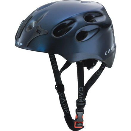 Climbing CAMP created the Pulse Ski and Climbing Helmet for serious ski trips that involve technical pitches on the ascent followed by steep, must-not-fall runs. Rated as both a ski and a climbing helmet, the Pulse gets the job done for several pitches of steep ice as well as a tight couloir descent. - $119.90