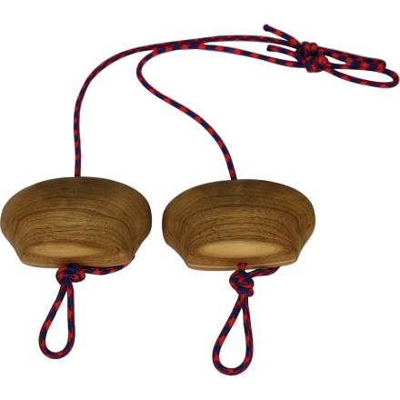 Climbing Pull-ups are the currency of climb training, so get rich with the Metolius Portable Power Grips. These custom-carved wooden blocks help you blast your arms while offering the flexibility to tailor your exercises and workout. - $22.50