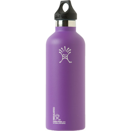 Camp and Hike The Hydro Flask 10oz Water Bottle ensures that ample hydration remains close-at-hand. Made with food-grade 18/8 stainless steel, this bottle won't carry around a stank after months of use, and the small-ish size means it fits nicely in your car cup holder. Most importantly, this double-wall vacuum insulated flask keeps cold items cold for at least 24 hours, and hot items hot for twelve. - $21.59