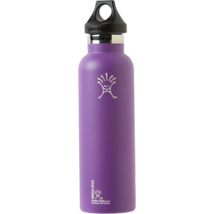 Camp and Hike Grab the Hydro Flask 21oz Water Bottle when you've got a hankerin' for some liquid refreshment. The food-grade stainless steel material won't retain odors, while the double-wall vacuum construction keeps cold items cold for at least 24 hours, and hot items hot for twelve. - $23.39
