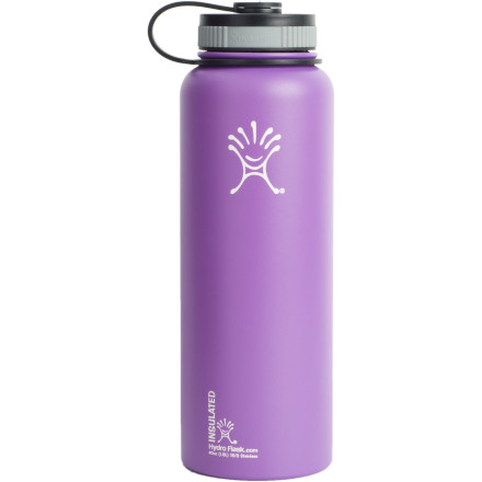 Camp and Hike The Hydro Flask 40oz Water Bottle isn't messing around when it comes to ample hydration. This girth-some bottle ensures you have plenty of H2O for a day on the trails, and the food-grade stainless steel material keeps funky odors at bay. This double-wall vacuum insulated flask also keeps cold items cold for at least 24 hours, and hot items hot for twelve. - $31.49