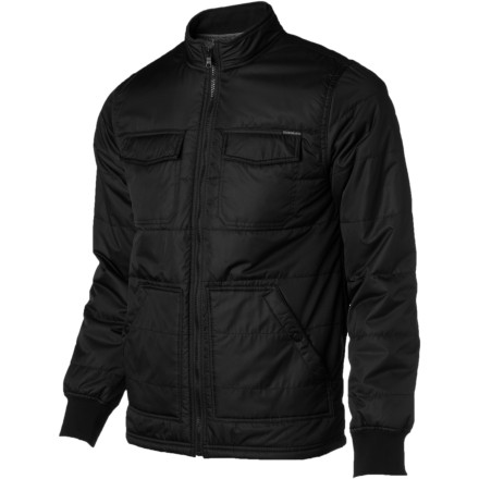 Surf Quilted comfort and stupendous style came together, shook hands, and eventually conceived the Quiksilver Steadfast Jacket. We'll spare you the graphic details, though. - $72.25