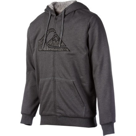 Surf The Sherpa lining in the hood and body of Quiksilver's Spencer Full-Zip Hoodie brings your warmth factor up a few notches during shoulder-season weather. - $52.13
