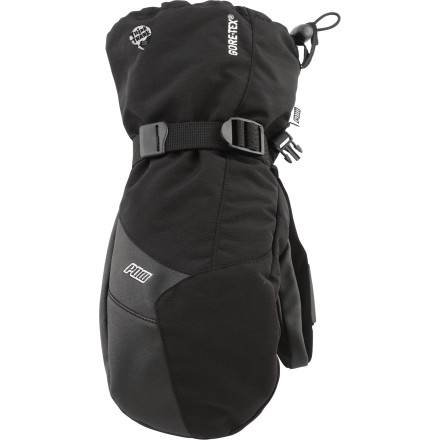 Normally bells and whistles aren't associated with gloves, but this isn't true in the case of the POW Gloves Warner GTX Mitten. It has all of them. Starting with the most important; guaranteed waterproof breathable Gore-Tex membrane that keeps your hand dry and comfortable all freakin' day. - $32.97