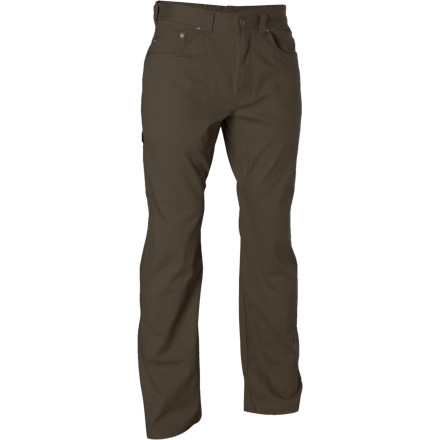 Climbing prAna gave the Bronson Pant classic five-pocket styling and classic, take your family to dinner lines. But don't judges a book by its cover. The Bronson is a tough as Charles. Abrasion-resistant micro sanded canvas gives sandstone grit a tough-guy squint and flat-out ignores thorns and brambles. The gusseted crotch can handle it when you're performing some Richard Simmons move to reach that next hold, even when your climbing buddies can't. - $34.98