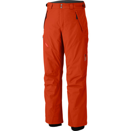 Ski Wise mountaineers live by the axiom, 'going up is optional; coming back down is not.' Buttressed by 40K-rated waterproof breathable fabric and Mountain Hardwear's legendary commitment to quality, the Returnia Pant will have you hiking, climbing, and skiing in the utmost comfort so you can keep your focus on achieving your goals and getting the hell out of there while the road is still passable. - $115.47