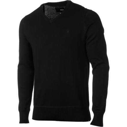 Surf Put yourself on the menu with the Hurley One & Only V-Neck Sweater. Wearing your favorite stained tee to the bar might keep you from having to engage in awkward conversations with aspiring models and actresses, but isn't that why you decided to pay eight bucks for a beer' - $46.71
