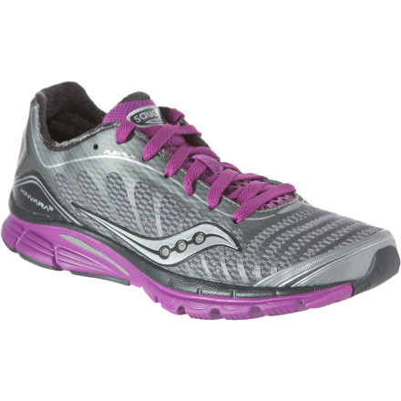 Fitness Saucony's Women's ProGrid Kinvara 3 Running Shoe embraces the idea of minimalist design without shorting you on cushioning or comfort. At just 7.7 ounces this shoe feels feathery light underfoot so you have less shoe to contend with, and everything from the uppers to the outsole were designed with enough flexibility to encourage your foot to move with utter freedom. Seamless uppers feel buttery smooth against your foot whether you decide to go barefoot (as some do) or rock a thin pair of synthetic socks. A mere four millimeters of heel-forefoot offset (drop) allows you to more easily adopt a midfoot or forefoot striking style, but that little bit of drop also allows you to revert to a heel strike if you need to relax a little late in your run. Saucony has a range of minimalist-style road shoes under ten ounces, including the Mirage 3 and the Virrata. Compared to the Kinavara 3, the Mirage 3 offers more midsole support and a HRC Strobel board to improve cushioning while the Virrata features a zero drop offset and ultralight build (just 6.5 ounces). A healthy balance between these two options, the Kinavara is for the 5k runner looking for a reduced-drop shoe or the marathoner who wants to go light without sacrificing cushioning or flex. - $79.96