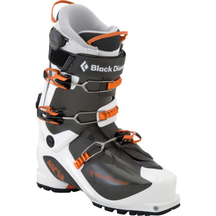 Ski For marathon backcountry tours and epic ski mountaineering pursuits, the Black Diamond Mens Prime Alpine Touring Boot keeps the weight to a minimum without sacrificing stiffness or control when its time for the descent. The Primes lightweight overlap construction and revolutionary cuff design help you float through the uphill while still providing the flex you need to drive your turns home in narrow couloirs and steep faces. - $285.00