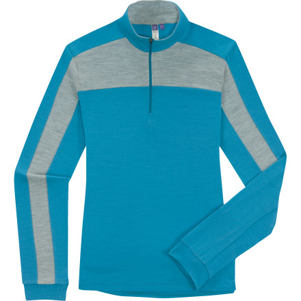 In cool temps, a warm, breathable midweight baselayer like the Ibex Indie Zip-Neck Top is everyday-indispensable. The zip neck and fabulous fit just make this top more comfortable, and with odor-resistant merino wool, you could andlet's be honestwill wear it days on end. - $49.98