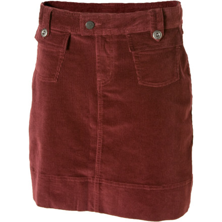 Camp and Hike The Patagonia Corduroy Skirt mixes the airy comfort of organic cotton with the free-moving feel of spandex to create a skirt that feels great, looks great, and actually works in the real world. Wear this skirt to school or around the office, then head out on a lunchtime hike without having to change. - $48.30