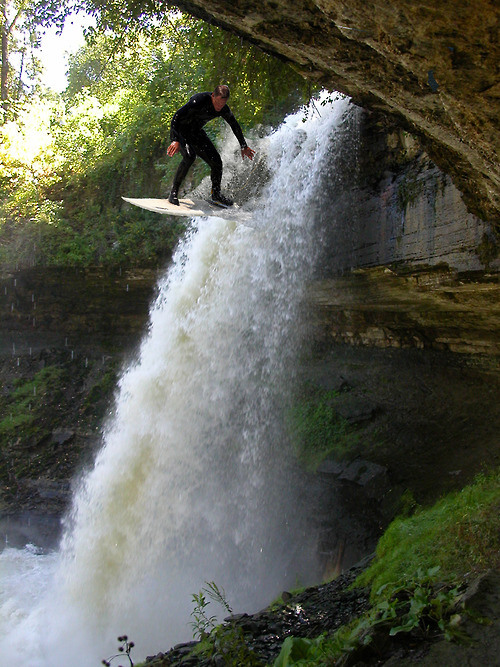 Surf Waterfall Surfing, Minnehaha Falls, Minnesota