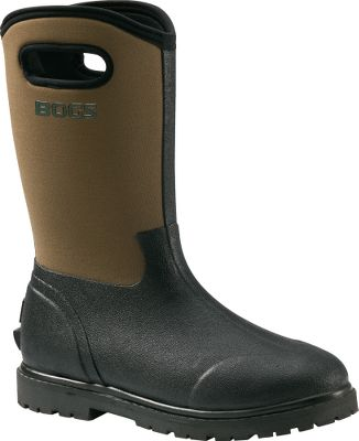 "Fishing Waterproof, warm, four-way-stretch neoprene/molded-rubber construction gives outdoorsmen maximum comfort in the field. Aegis antimicrobial insoles control game-spooking scent. Ranch-style work boots, with pull handles. 13"" stretch-neoprene uppers for maximum convenience. Comfort-rated to -40 F. Imported.Height: 13"".Men's whole sizes: 8-14. Color: Black/Brown. - $49.88"