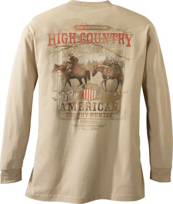 Display your hunter's pride with a bold Bonehead shirt. Preshrunk and made of 6-oz. cotton fabric for a familiar feel. Machine washable. Imported. Sizes: M-2XL. Available: BHO/Charcoal, High Country/Sand, Gun Powder/Black. - $11.88