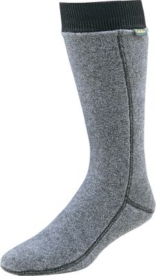 Our high-loft, 300-weight fleece socks have a higher warmth-to-weight ratio than natural-fiber socks and boast excellent breathability. They also offer quick-drying, moisture-wicking performance, making them an excellent choice with pac boots or waders. Imported.Weight: 3.5 oz.Wall thickness: .175.Sizes: M(5-8), L(9-12), XL(13-15).Color: Gray. Approved for Cabelas waterproof, breathable footwear. - $9.88