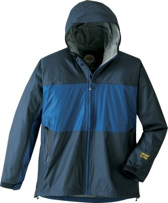 Cabelas long history of providing the highest-quality, most-advanced weatherproof clothing continues with the release of Ultra 2.5. This 100% waterproof and breathable fabric compresses into a small portable package, so you can always take reliable rainwear anywhere you venture. The tough, 100% nylon face fabric wards off moisture and holds up against abrasions and wear. Dry-Plus provides breathable and reliable waterproof rainwear under the most challenging conditions. A light coating on the inner fabric reduces condensation on your skin. These layers result in potent wet-weather protection with versatility matched only by its effectiveness. The waterproof and breathable combination keeps you dry from the inside as well as the outside. Welted front zipper with interior storm flap, oversized pockets with waterproof zippers, and adjustable cuffs and hood. Packs into a separate stuff sack. Imported. Sizes: S-3XL. Colors: Carbon, Earth Brown, Dark Blue. - $29.88