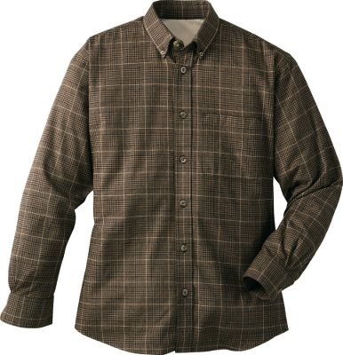 Our best flannel shirt. Premium 100% cotton napped flannel twill. Rear box pleat. Single left-chest pocket. Classic seven-button styling. Button-down collar. Two-button-adjustable cuffs. Imported. Tall sizes: L-3XL. Colors: Olive Plaid, Dark Tobacco Plaid, Night Plaid, Cordovan Plaid. - $19.88