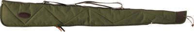 "Hunting Cabelas Shotgun Case without Accessory Pocket has an outer shell crafted of tough 22-ounce canvas duck fabric that will stand up to bad weather, rough treatment, snags and abrasion. Lined with soft 40-ounce quilted cotton batting with twill sight guard. Top-grain tanned leather is used throughout. Triple-stitched canvas binding, solid brass hardware, and full-length zipper with zipper guard. Choose the right case for your shotgun. Type: Soft Cases. Size 46"" Shtgn No Pkt. - $34.88"