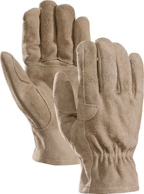 Durable cowhide suede gloves with reinforced palms and thumbs for the most demanding jobs. Features gun-cut construction which improves the fit and comfort of the gloves. Ideal for use on the farm and ranch as well as construction site. Open-cuff construction provides simple on and off. Imported.Sizes: S-2XL.Color: Tan. Type: Gloves. Size: Medium. Color: Tan. Size Medium. Color Tan. - $14.99