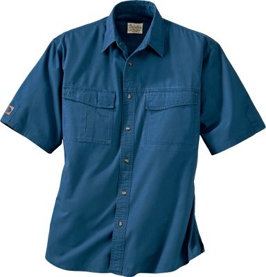 Broken-in comfort with the durability to handle daily wear and tear. Our Roughneck Ripstop Short-Sleeve Shirt is constructed of 100% cotton ripstop with double-stitched seams and a double-layer yoke. Secure belongings in chest pockets with hook-and-loop closures. Underarm gussets for enhanced mobility. Imported. Sizes: M-2XL. Color: Tradesman Green. Size: XL. Color: Tradesman Green. Gender: Male. Age Group: Adult. Material: Cotton. - $19.88