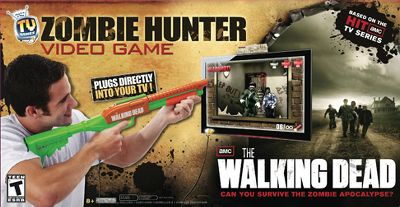Be part of AMCs original television series, The Walking Dead with the Zombie Hunter Plug N Play Video Game. Try surviving the zombie outbreak firsthand by defending yourself with the pump-action shotgun controller. No video game console or software needed. Simply plug the arcade-style, pump-and-shoot shotgun controller directly into the TV for a fast-paced apocalyptic adventure. Includes one shotgun game controller with several game modes built-in. Ages 8+. Available:Walking Dead 2. Type: Plug `n Play. - $15.88