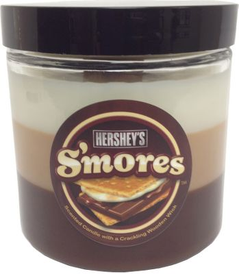Fill your home with the mouthwatering scent of smores. This candle releases the aroma of marshmallows, graham crackers and chocolate as it burns through each layer. Wooden wick.Burn time: Up to 150 hrs.Size: 12 oz. Type: Candles. - $10.88