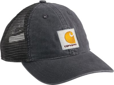 Hunting Learn more about Carhartt Carhartts Mens Buffalo Cap is made of 100% cotton-duck with a breathable, polyester-mesh back. CoolMax sweatband wicks away moisture for added comfort. Adjustable fit. Logo on front. One size fits most. Imported. Colors: Army Green, Dark Khaki, Gravel, Black. Carhartt Style No.: 100286. Size: One Size. Color: Gravel. Gender: Male. Age Group: Adult. - $14.99