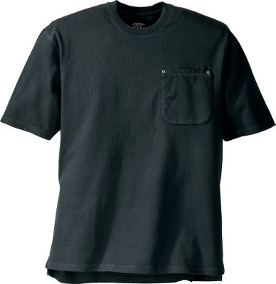 Extra-soft 100% cotton fabric blended with long-lasting Roughneck durability. Enzyme washed for a broken-in feel. Canvas-trimmed chest pocket with a carpenters pencil pocket. Machine washable. Imported. Tall sizes: L-5XL. Colors:Taupe Grey, Black, Deep Slate, Infield Brown, Foliage. Size: 3 X-Large. Color: Black. Gender: Male. Age Group: Adult. Material: Cotton. Type: Short-Sleeve Tee Shirts. - $9.99