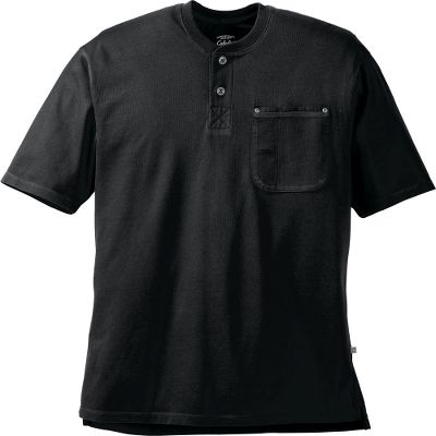 Roughneck durability with smooth comfort for work or play. Crafted of enzyme-washed 100% cotton for unbeatable softness. Canvas-trimmed chest pocket with a carpenters pencil pocket. Two-button placket. Machine washable. Imported. Tall sizes: L-5XL. Colors: Black, Desert Tan, Night, Cordovan, Taupe Grey. Size: 5 X-Large. Color: Desert Tan. Gender: Male. Age Group: Adult. Material: Cotton. Type: Short-Sleeve Shirts. - $11.88