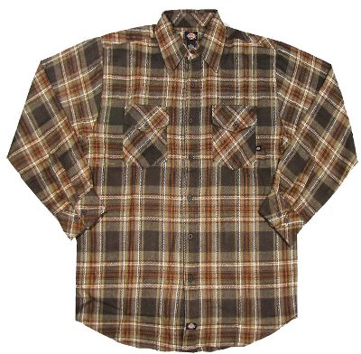 Guns and Military These high-quality, heavyweight 100% cotton flannel shirts provide ultimate warmth and comfort. They feature the classic Buffalo plaid design and two front pockets for a rugged look. Imported. Sizes: M-4XL.Colors: Gravel Gray, Mink, Aged Brick, Dark Navy. - $12.88