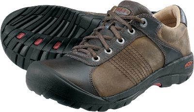 All the rugged support, cushioning and comfort found in Keens legendary line of mountaineering shoes in a classic oxford style for more civilized pursuits. Like all Keen footwear, they feature toe-protecting outsoles. High-performance moisture-wicking linings keep feet feeling fresh and dry all day long. Removable metatomical footbeds conform to your feet for a custom fit and feel. Water-resistant leather uppers. Imported.Men's sizes: 8-13 medium width. Half sizes 12.Color: Bison. - $69.88